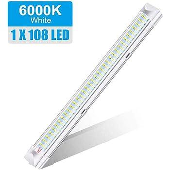 DC 12V Dimmable LED Tubo de luz de tira Cool White 6000K t/áctil Conmutador de luces LED 6W interior r/ígido Kit de barra de la tira Luz para Coche Van autob/ús o Zona de autocaravana Barco