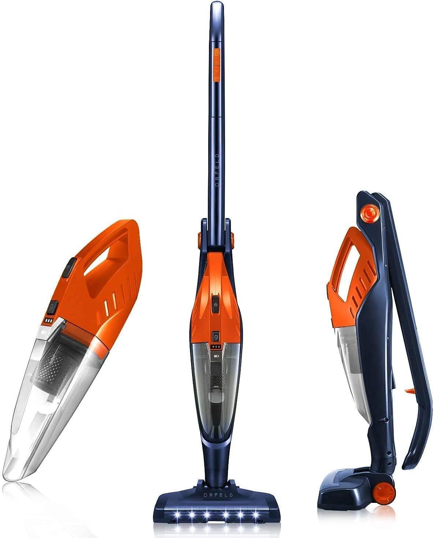Cordless Vacuum, ORFELD Stick Vacuum Cleaner 4 in 1 Lightweight, Upright Vacuum Cleaner