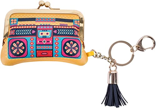 Floral Boombox Bag Charm