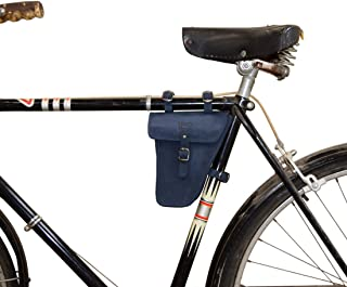 Hide & Drink, Leather Frame Bag for Bicycle/Triangular/Bike/Tool Pouch/Accessories/Biker Essentials, Handmade Includes 101 Year Warranty :: Blou Reed