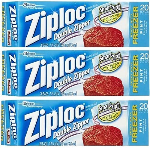 Limited Special Price Ziploc AC1436 Pack of Online limited product Pint 20-Count 3 Clear