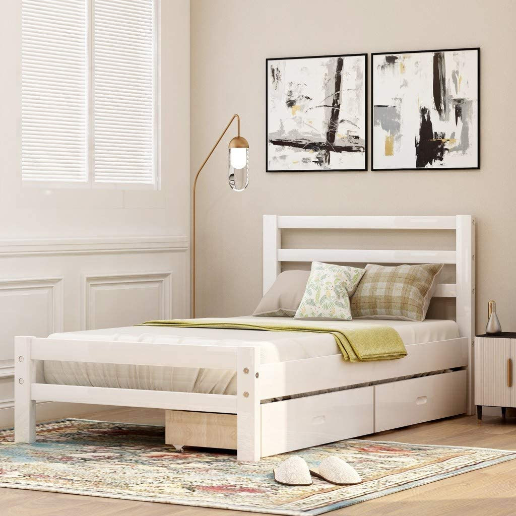 Twin Bed Frame Price reduction with Kids Storage Austin Mall Drawers Platform