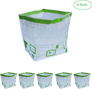 Recycle Trash Bags, Recycling Bins for Home Office Travel, Water Proof Outdoor Garbage Trash Bag Stand Holder, Trash Organizer with Drawstring Bags, 6 Packs