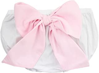 RuffleButts Baby/Toddler Girls Woven Baby Bloomer with Bow