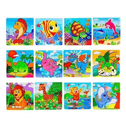 Soul hill Puzzlespiel for 2-Jährige Junge Holzpuzzle for 1 Jahr Olds Kleinkind Puzzle 2-3 Jahre Holz Holz-Puzzle for Kinder Holz-Puzzle for 2-Jährige d zcaqtajro (Color : A)
