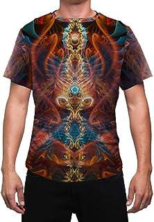 Animal Totem Mens T Shirt   Sacred Owl Animal Spirit   Masculine   Shaman   Festival Shirt   Rave Shirts   Trippy   Darkmoon