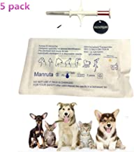 Manruta Pet ID Microchips for Small Dogs and Cats 1.4X8 MM Size 134.2Khz ISO 11784/5 FDX-B Standard 5 Pack per Lot