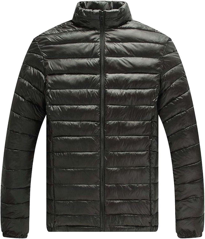 Maweisong Men's Solid Stand Collar Winter Down Jackets Puffer Puffer Puffer Coats Outwear a9c907