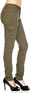 Jack David /926 / Wax Jean Ladies Womens Stretch Solid Casual Skinny Utility Cargo Pants G11