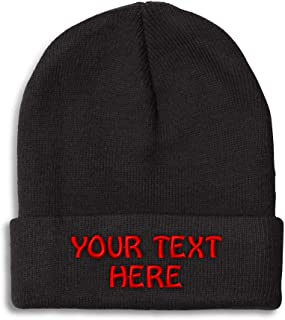 Winter Hat Beanie for Men & Women Custom Personalized Text Acrylic Skull Cap Hat