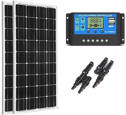 SUNGOLDPOWER 200 Watt 12V Monocrystalline Solar Panel Module:2pcs 100W Monocrystalline Solar Panel Solar Module