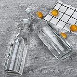 Botella de Vidrio con Tapa abatible de 6 Piezas Botellas de Vidrio con Tapa abatible Transparente Tapas fáciles a Prueba de Fugas Botella Botellas con Tapa abatible para Preparar Bebidas Vinagre de a