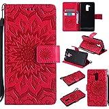 Hülle für Huawei Honor 5C/7 Lite/GT3 Hülle Handyhülle [Standfunktion] [Kartenfach] [Magnetverschluss] Schutzhülle lederhülle flip case für Huawei Honor 5C - DEKT030887 Rot