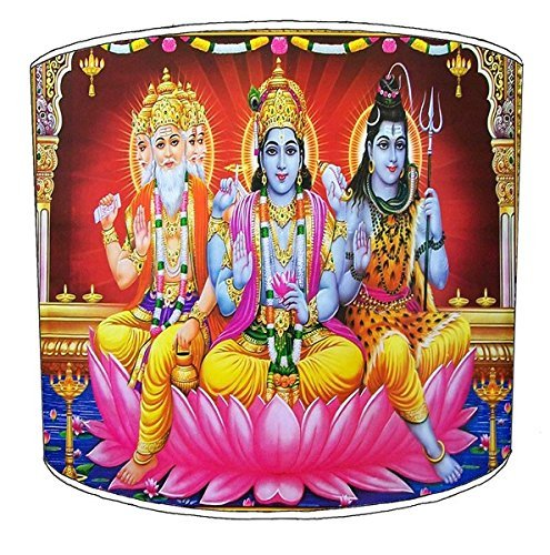 12 Inch Ceiling Hindu God Lords godesses lampshade 9