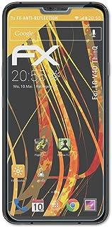 atFoliX Skärmskydd är kompatibel med LG V40 ThinQ Skyddsfilm, antireflekterande och stötdämpande FX Film (3X)
