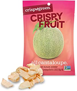 Crispy Green Freeze-Dried Fruit, Single-Serve, Cantaloupe, 0.36 Ounce (Pack of 12)