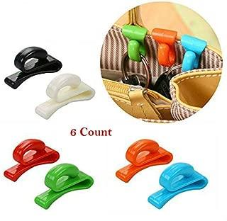 AKOAK 6 Pieces Assorted Color Handbag Key Organizer Key Clips Key Hook Hangers for Purses Bags