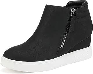 Girls Platform Wedge Sneakers Ankle Wedge Booties