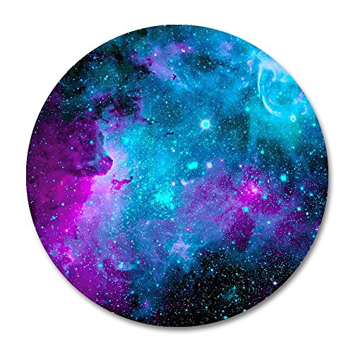"""Galaxy Round Mouse Pad by Smooffly,Blue Purple Galaxy Customized Round Non-Slip Rubber Mousepad Gaming Mouse Pad 7.87""""X7.87"""" inch"""