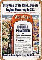 1954年モービルガススペシャルブレンドリプロダクションコレクティブルウォールアートブリキ看板
