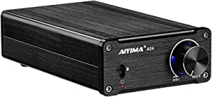 AIYIMA 2 Channel TPA3251 Digital Audio Amplifier & 175W +175W HiFi Mini Power Amp Home Professional Amp NE5532 High Power Full Frequency Class D Amp (Black+Power Adapter)