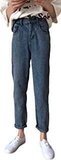 Gergeousジーンズ レディース ゆったり デニムパンツ ウエストゴム ロングパンツ 秋 着痩せ ストリート系 原宿系