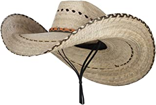 Mexican Style Wide Brim Straw Hat - Natural OSFM