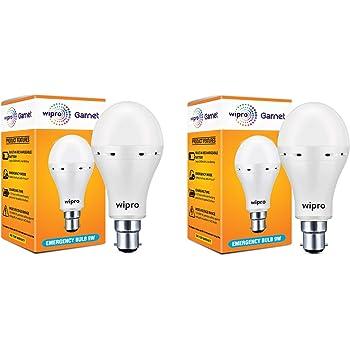 Wipro Garnet Emergency LED Bulb 9W 6500K - Pack of 2