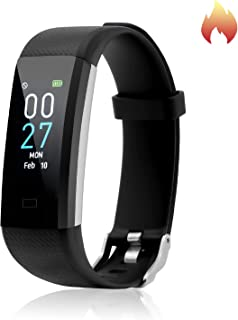 Fitness Tracker with Blood Pressure Heart Rate Sleep Monitor Temperature Monitor, Activity Tracker Smart Watch Pedometer S...