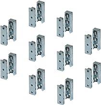 Gedotec meubelaansluiting verdekte bedaansluiting SOLID metalen corpusaansluiting | inhaakaansluiting voor bedden, meubels...