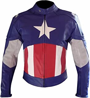 BillzDen Men's Fashion Captain Civil America War Real Cow Leather Jacket