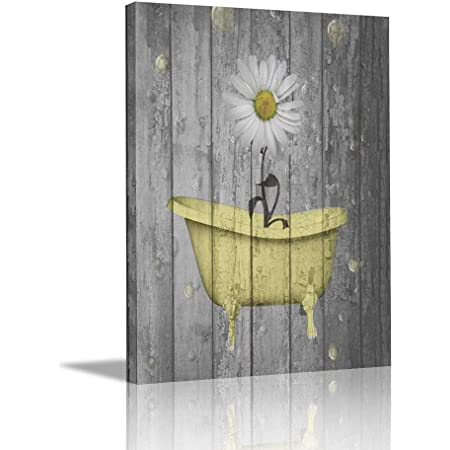 Retro Daisy Square 1 Mixed Media Art Handmade Decorative Wooden Wall Hanging No need for a frame Ready to hang. All 4 sides painted
