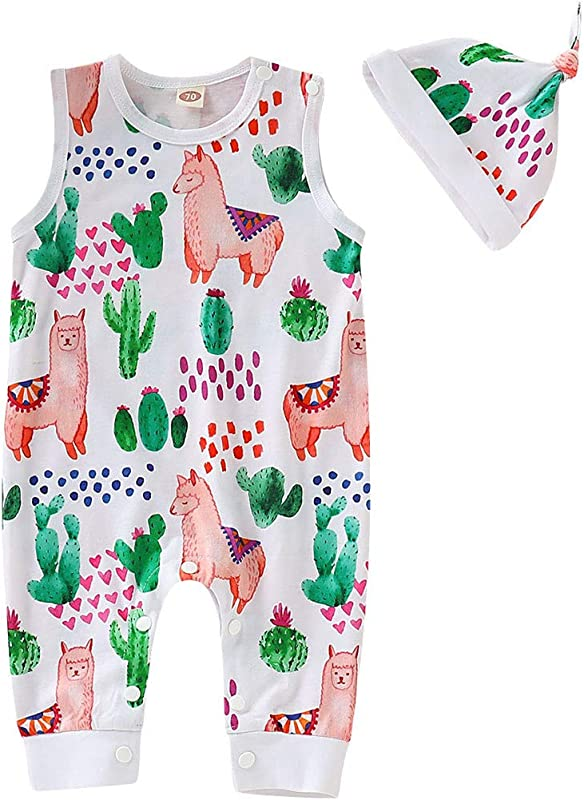 RoDeke Newborn Summer Suit Baby Short Sleeved Cartoon Pattern Jumpsuit Romper 0 24 Months