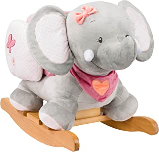 Nattou Adele The Elephant Rocker, Grey/Pink
