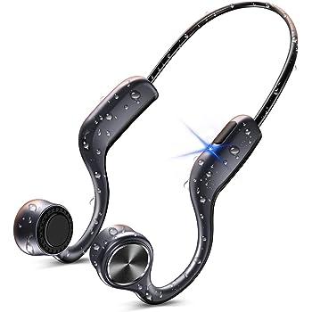骨伝導イヤホン 【2020最新改良版】 Bluetooth イヤホン ブルートゥース イヤホン スポーツ ワイヤレスイヤホン Hi-Fi 高音質 超軽量 耳掛け式 両耳通話 CVC8.0ノイズキャンセリング IPX7防水 AAC対応 SUTOMO 一年間保証付き
