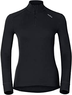 ODLO Women's Bl Top Turtle Neck L/S Half Zip Active Warm