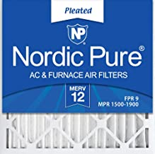 Nordic Pure 20x20x2 MERV 12 Pleated AC Furnace Air Filters 3 Pack