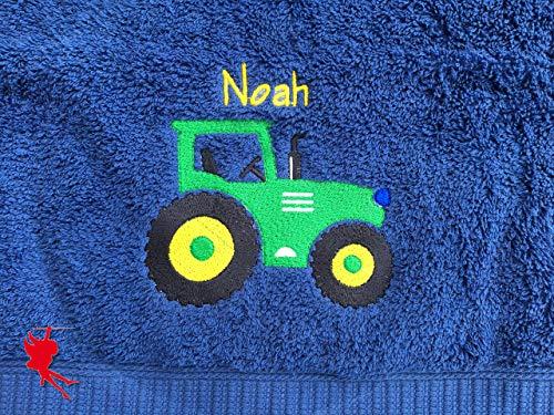 Traktor Handtuch bestickt mit Motiv und Name Traktorhandtuch