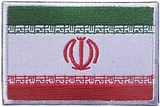 ShowPlus Iran IR Flag Military Embroidered Tactical Patch Morale Shoulder Applique