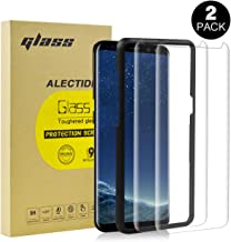 ALECTIDE [2 Pack] Screen Protector for Samsung Galaxy s8, [Easy Installation Tray][3D Full Coverage] 9H Tempered Glass Screen Protector Guard Cover Film for s8 with one Year Warranty