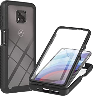 I VIKKLY for Moto G Power 2021 Case with Built in Screen Protector,Three Defense Full-Body Rugged Hybrid Bumper Shockproof...