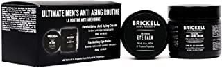 Brickell Men's Ultimate Anti-Aging Routine, Anti-Wrinkle Night Face Cream and Eye Cream to Reduce Puffiness, Wrinkles, Dark Circles, Under Eye Bags, Natural and Organic, Unscented