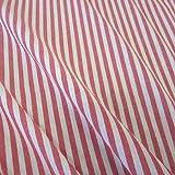 Stoff Meterware Bauernstreifen rot weiß Streifen gestreift