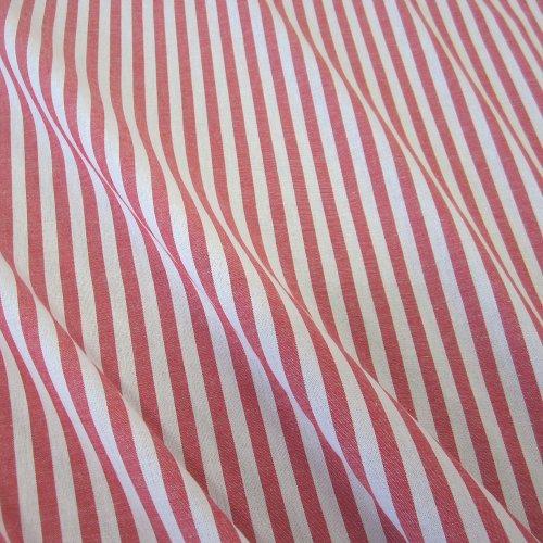 Tissu au mètre bauernstreifen rouge/blanc à rayures style voilage rayé