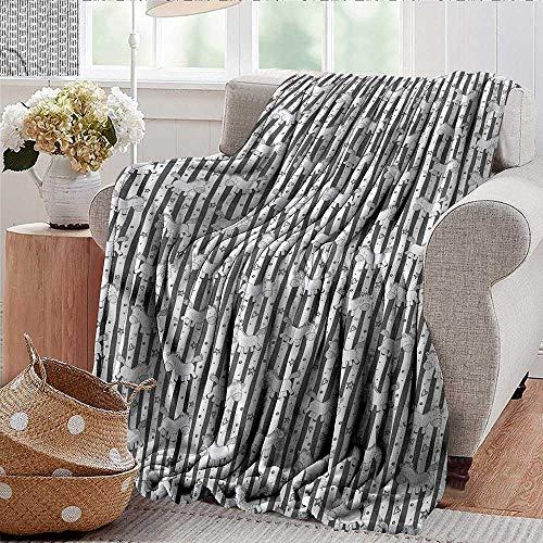 Xaviera Doherty Sommerdecke für Kinder, lustige Pony-Streifen, Mikrofaser-Decke für alle Jahreszeiten, für Bett oder Couch Mehrfarbig, 76,2 x 127 cm
