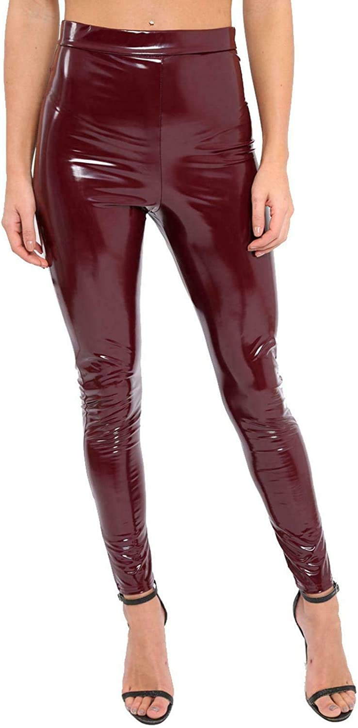 OFFicial store Re Tech UK - Ladies Shiny Leggings Disco High Regular store Wet Waisted Lo