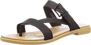 Crocs Women's Tulum Toe Post W Sandals Leisure and Sportwear, Multicolor (Oyster/Tan), 4.5 UK