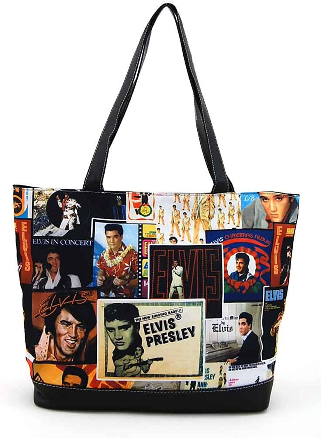 Elvis Presley Large Collage Tote Bag