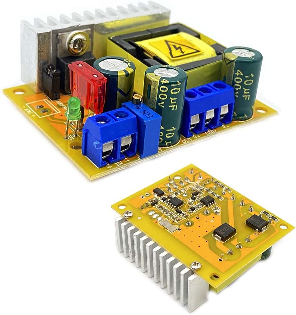 Kiro&Seeu DC-DC 8-32V to 45-390V High Voltage Boost Converter ZVS Step-up Booster Module Capacitor Charging Power Supply Module Adjustable Voltage Output