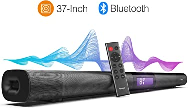 TENKER Soundbar for TV, 37-inch 4 Speakers Wired and Wireless Bluetooth 2-Channel Optical Soundbar, Home Theater Speakers for TV (Surround Sound, Remote Control, Wall Mountable)